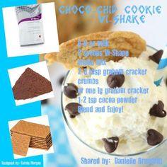 90 day challenge, chocolate chips, protein shakes, chocol chip, chip cooki, vi shake recipes, vi shakes, chocolate lovers, visalus shake recipes