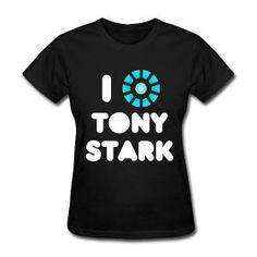 I heart Tony Stark - arc reactor t-shirt