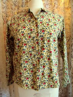Vintage Pepper Tree Button Front Blouse, $6.00, on Etsy at RetroRosiesVintage