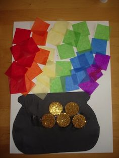 10 Easy St. Patrick's Day Crafts for Kids - Pot of Gold - count the number of coins
