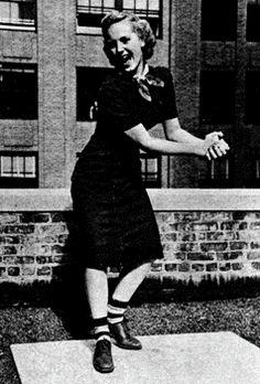 Stripey socks 'ta boot.  Oh YES!  http://www.girlinthejitterbugdress.com #vintage #1940s #WWII #Swing #Dance #Lindy Hop #Jitterbug #Balboa #Shag NOVEL WEBSITE BLOG SWING IT BROTHER SWING!