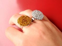 How To Make 2 Shiny Statement Rings