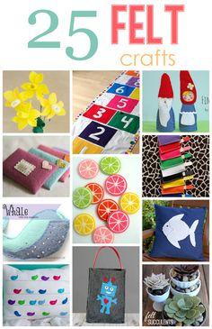 25 Felt Crafts!