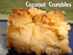 Coconut Crumbles Recipe from Divine Desserts