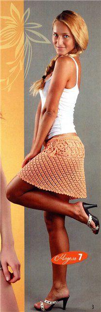 Mini Skirt free crochet graph pattern
