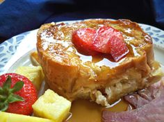 Overnight Stuffed French Toast Recipe - prep the night before, pop in the oven in the morning, so simple