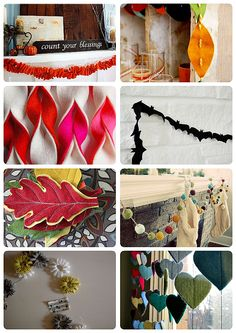 38 Garlands (will have to look at all these later! Pinning now to remember - some look so cute!)  ********************************************  The Inspired Room - DIY #garland #decoration #decor #handmade #crafts #garlands #banner #banners #collection - tå√