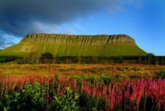 Benbulben Mountain is a striking backdrop to the north of County Sligo.