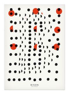 polka dot graphic design, Bison  #polkadots #inspiration