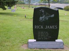 """Rick James - Singer, Songwriter, Musician. Grammy Award-winning R&B and Funk entertainer who attained international stardom in the early 1980s with his hit song """"Super Freak."""" His other hits include """"You and I,"""" """"Bustin' Out,"""" """"Ebony Eyes,"""" """"Mary Jane,"""" """"Fire and Desire"""" (with Teena Marie), and """"Give It to Me Baby."""""""