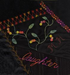 I ❤ crazy quilting & embroidery . . .   Must try a black crazy quilt to show off bright threads.