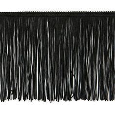 By the Yard6 Black Chainette Fabric Fringe by TrimsandBeads, $3.99