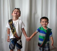 Crayon ammo belts. Because one day the apocalypse will come, and you'll want to be ready.