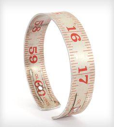 vintag ruler, ruler bangl, cloth, accessori, vintage, jewelry bracelets, ruler jewelri, red vintag, bangles