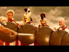 Horrible Histories Spartan shield formation