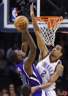 thabo sefolosha of okc thunder blocks green