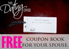 Free printable coupon book for your spouse!  #freeprintable #datingdivas