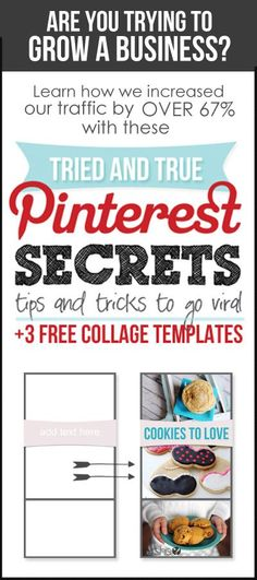 Are you trying to grow a business? Learn how we increased our traffic by OVER 67% just by applying a few secret tips and tricks to Pinterest! Get 3 FREE editable, downloadable, templates too! More at HowDoesShe.com #business #traffic  #pinterest #ebook