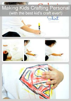 How to Make Kids Crafting Personal- This is the best kids craft ever!