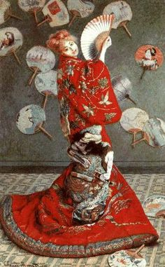 La Japonaise  1876  by Claude Monet kimono, costumes, claud monet, camill monet, claude monet, japanes costum, art, claudemonet, la japonais