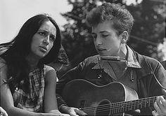 Joan Biaz and Bob Dylan
