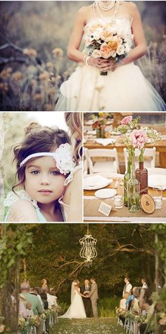 Love it little girls, vintage weddings, headband, flower girl hair, wine bottles, flower girls, outdoor weddings, retro vintage, vintage bottles wedding