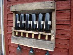 Recycled wine rack SMALL by TheGoAwayWoodshop on Etsy
