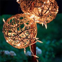 Turn simple twine and twinkle lights into gorgeous outdoor lanterns with this DIY tutorial.