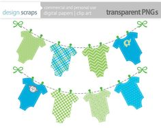 baby boy banner clip art graphics, blue green t-shirt baby shower digital clipart commercial use blue green baby clothes - INSTANT DOWNLOAD on Etsy, $3.75 CAD babi decoupag, design scrap, clipart, clip art, decal, scrap clip, babies clothes, babi karten, banners