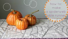 V and Co.: V and Co: how to: make a spiderweb table runner