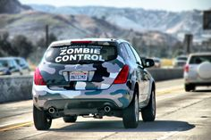 Helping protect humanity from our greatest threat... Zombies! #driving #plates #funny #zombies