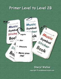 Music Symbol Sticker Book - PRIMER LEVEL TO LEVEL 2B
