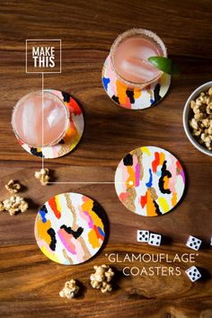 glam #diy coasters