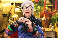 Iris Apfel   Into The Gloss - This is a great article - we could all learn a lot from this beautiful woman.