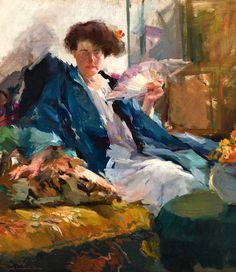 Femme avec un éventail - Elizabeth Sparhawk-Jones