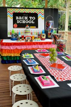 Back to School Party - great ideas