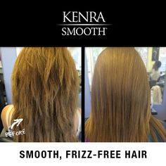 Ask your stylist how you can get smooth, frizz-free hair just in time for fall!  Before/after by Annie Weis.