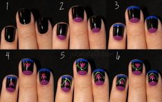 """17 Pieces Of Amazing """"Frozen"""" Nail Art - If you're not interested in a sexy Frozen Halloween costume, maybe these nail art options will be more up your alley."""