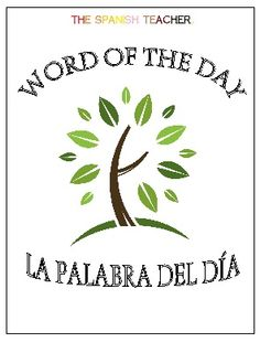 Spanish Bellringer Book Word of the Day la palabra del día