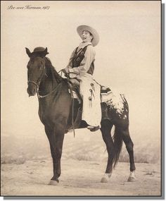 1987 Pee-Wee Herman as a cowboy on a horse / magazine promo photo