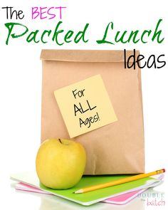 Tired of your regular PB & J? These packed lunch ideas are so simple and easy, you'll look forward to your lunch each day!