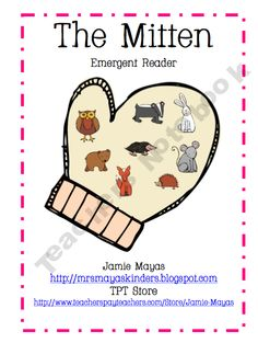 "FREE emergent reader to go with ""The Mitten"" by Jan Brett"