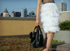 DIY No Sew Feather Dress   Meredith & Gwyneth, The New Yorkie