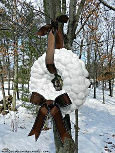 Easy Cotton Wreath Tutorial