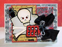 EEK! Card by Michele Kovack using the NEW A Frightful Affair cartridge! #Cricut #Halloween