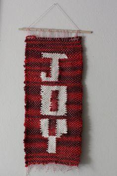 Joy woven wall hanging #DIY #crafts