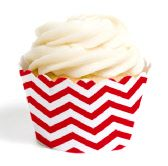 red chevron cupcake wrappers  #socialcircus