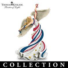 Thomas Kinkade Patriotic Angel Figurine Collection