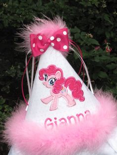 Personalized My Little Pony Birthday Party Hat. $25.00, via Etsy.