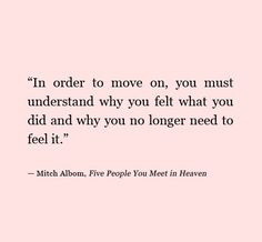 Letting things go